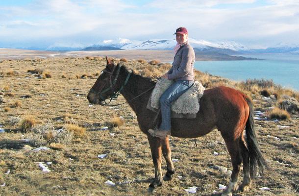 paardrijden in argentinië patagonië el calefate glacier