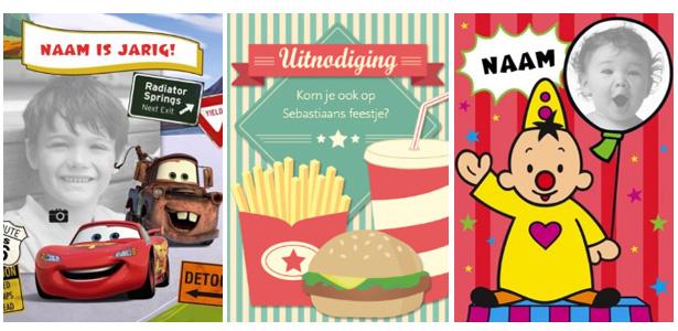 uitnodigingen kinderfeestje gepersonaliseerd | AllinMam.com