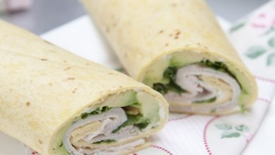Photo of Wraps met kip en avocado