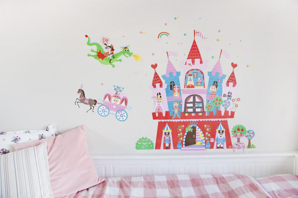 Zeer Prinsen en prinsessen magnetische muursticker - AllinMam.com #WL87