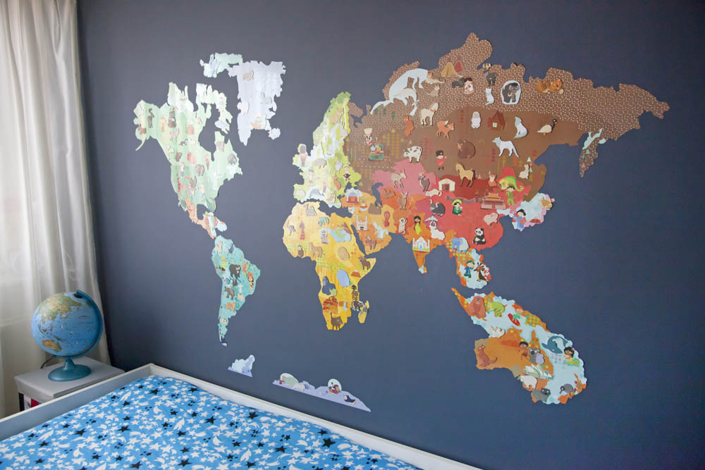 Tip: Magnetische wereldkaart muursticker - AllinMam.com