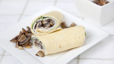Photo of Wraps met champignons en roomkaas