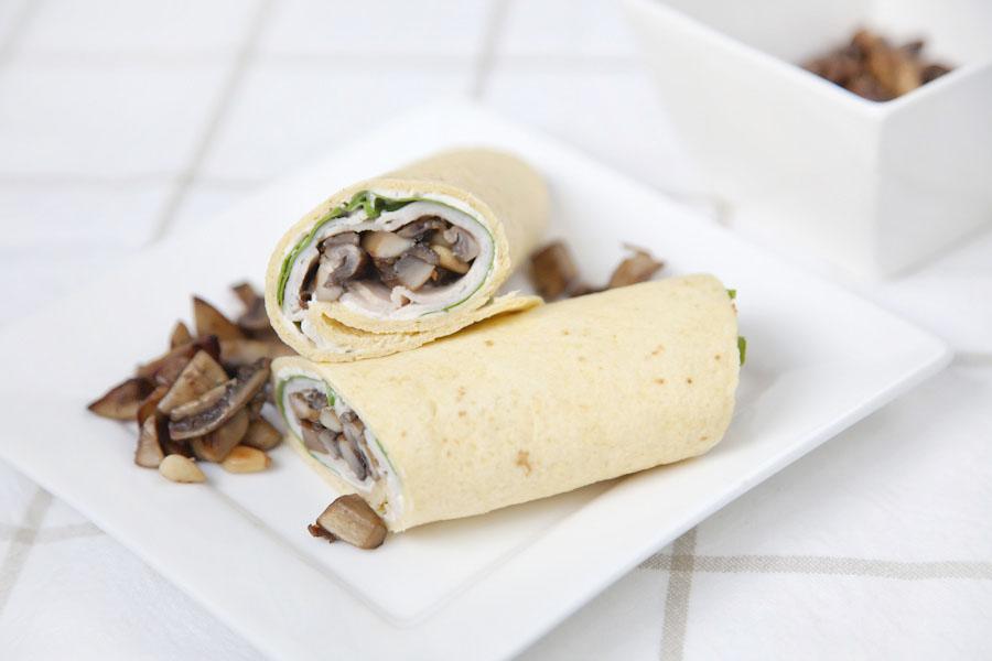wrap met champignons en roomkaas