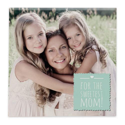 tegeltje met foto en/of persoonlijke tekst - moederdag cadeau