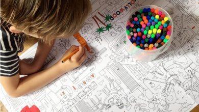 Photo of Kleuren op grote kleurplaat prikkelt de fantasie bij kinderen