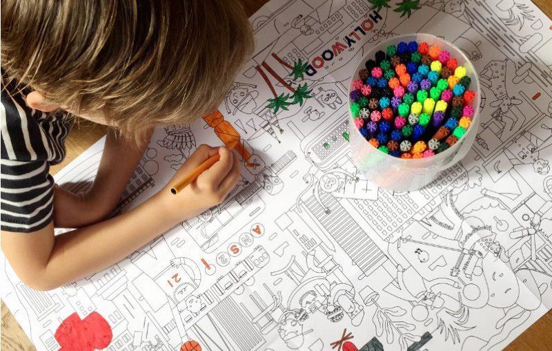 Grote Kleurplaat Prikkelt De Fantasie Bij Kinderen