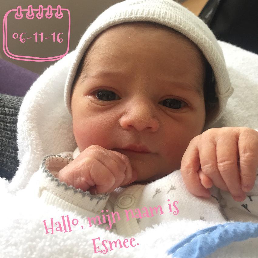 Donderdag vliezen gebroken, zondag geboren; onze dochter Esmee! - AllinMam.com