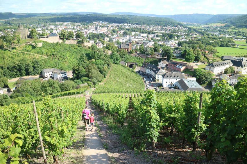 Landal Warsberg; door druivenranken heen wandelen naar Saarburg - AllinMam.com