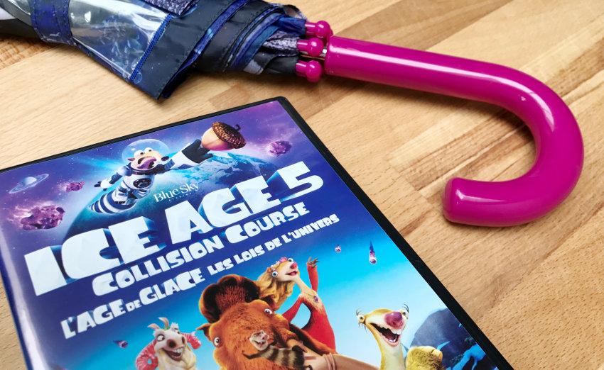 """Win """"Ice Age 5 collision course"""" dvd & paraplu - AllinMam.com"""