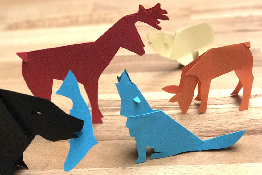 Papieren dieren knippen en vouwen - AllinMam.com