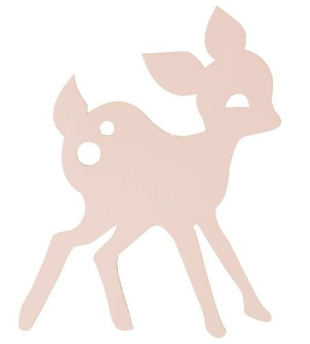 FERM LIVING My Deer wandlamp LED roze - AllinMam.com