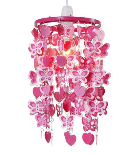 Roze kroonluchter met vlinders - AllinMam.com