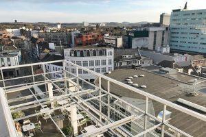 uitzicht vanaf dak Schunck Heerlen terras brasserie mijn streek - AllinMam.com