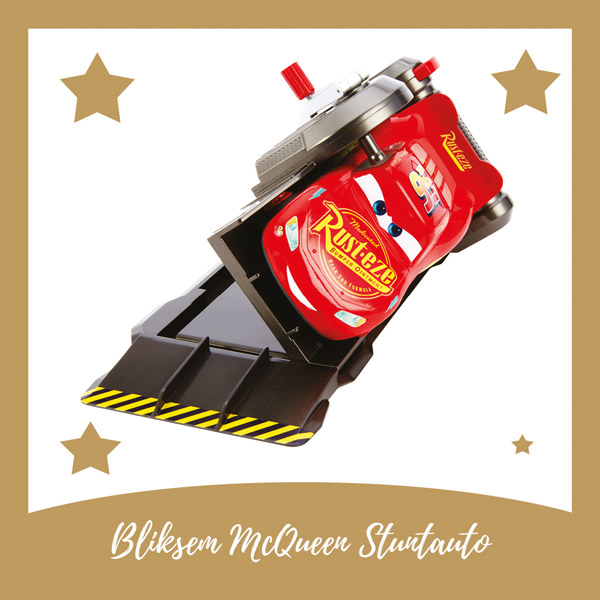 Bliksem McQueen stunt auto Mattel - AllinMam.com