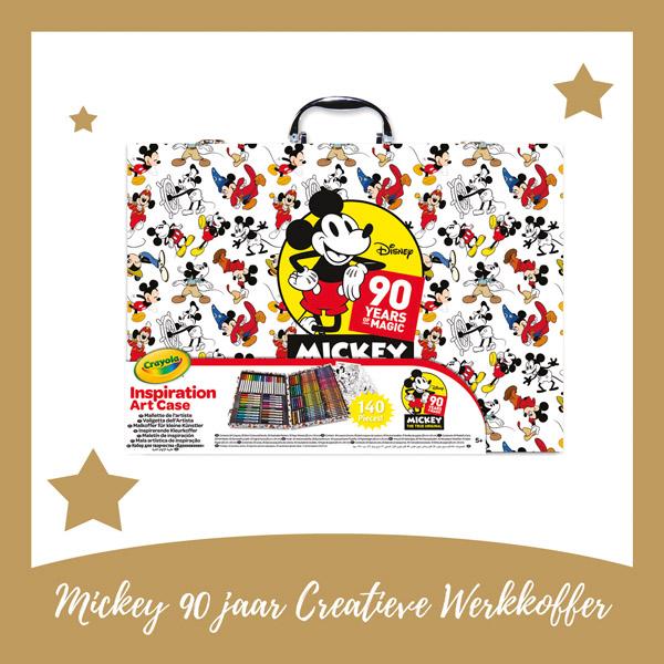 Mickey 90 jaar creative werkkoffer Crayola - AllinMam.com