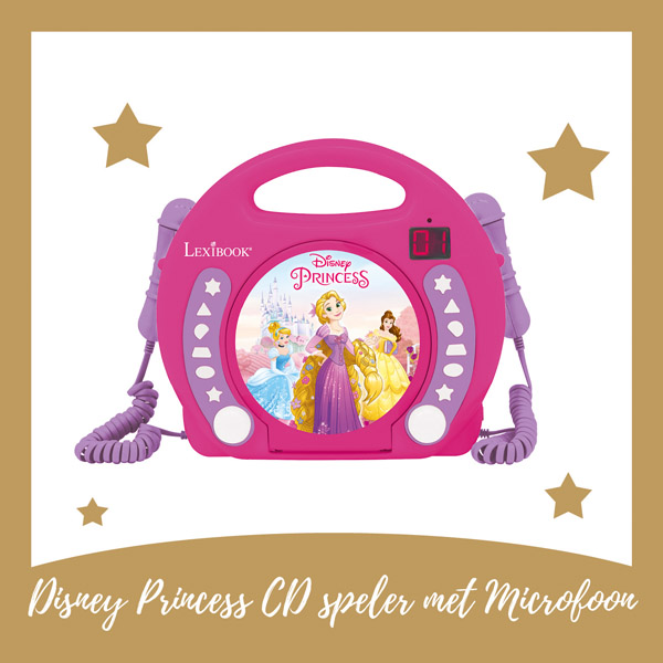 Disney Princess cd speler met microfoon Lexibook - AllinMam.com