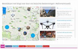 Wereldkaart met blogs op desktop - AllinMam.com