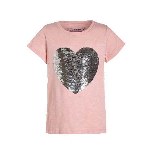 shirt met hart van omkeerbare pailletten - AllinMam.com