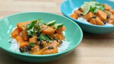 Zoete aardappel curry uit de MaaltijdMatch app - AllinMam.com