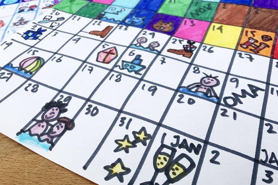 Aftelkalender naar Sinterklaas en Kerstmis - AllinMam.com