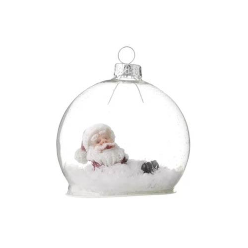 Hema kerstversiering glazen bal met kerstman er in - AllinMam.com