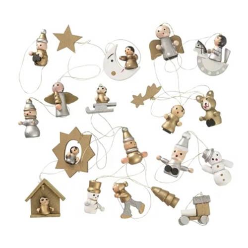 Hema kerstversiering goudkleurige hangertjes voor in kerstboom - AllinMam.com