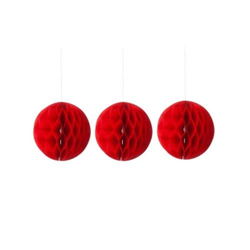 Hema kerstversiering rode papieren ballen voor in de kerstboom - AllinMam.com
