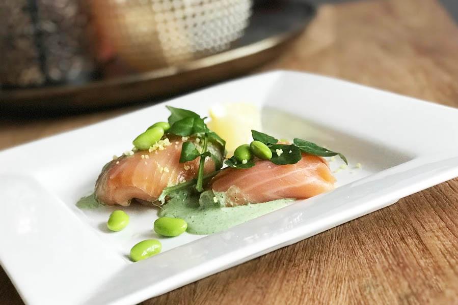 Voorgerecht zalm met mousse van ricotta en waterkers - AllinMam.com