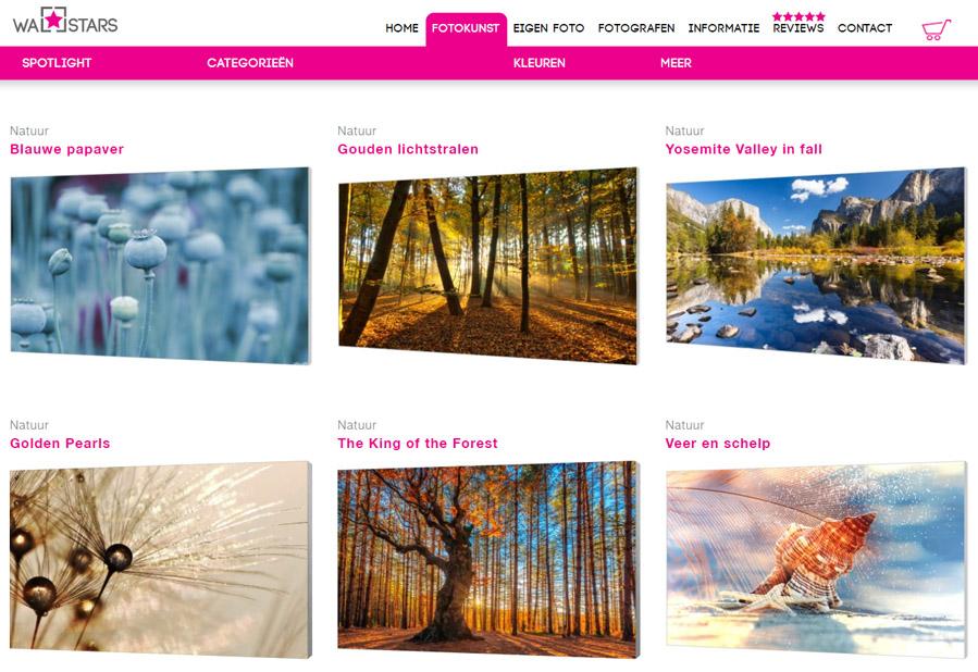 Verwisselbare fotodoeken van Wallstars- AllinMam.com