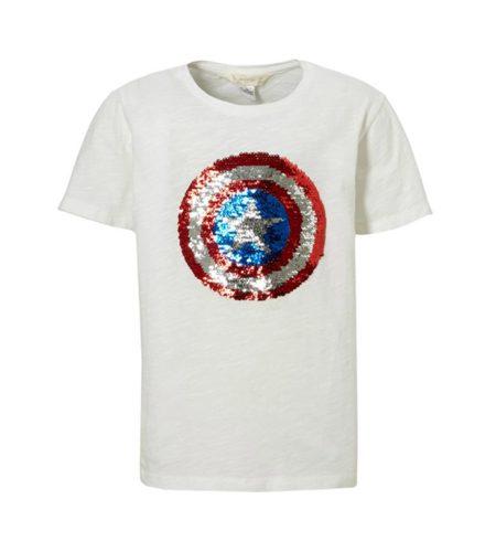 Jongens shirt met ster van omkeerbare pailletten - AllinMam.com