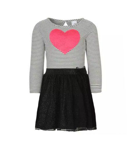 Pailletten jurk met roze hart - AllinMam.com