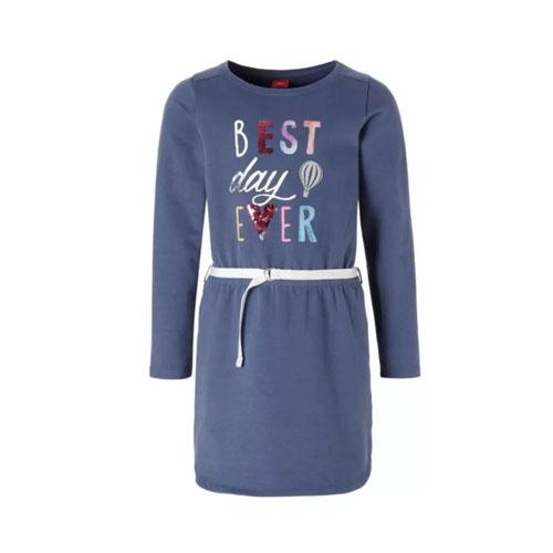 pailletten jurk met omkeerbare pailletten - AllinMam.com