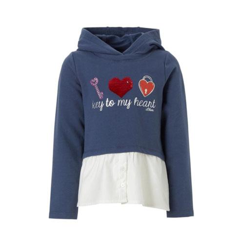 s.Oliver hoodie met omkeerbare pailletten - AllinMam.com