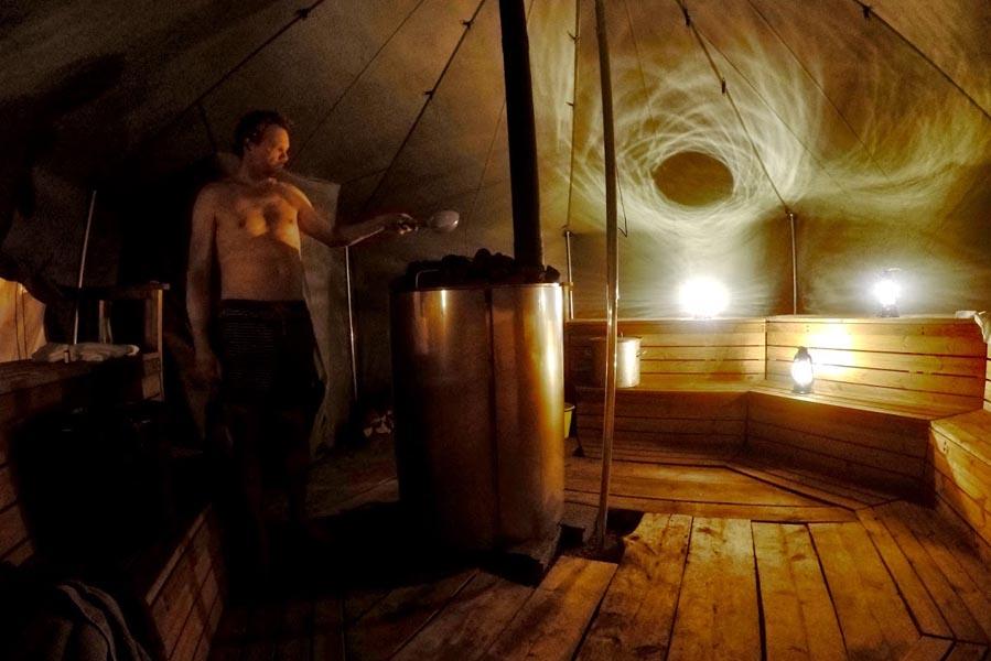 The Northern Lights resort tent sauna, Finland - AllinMam.com