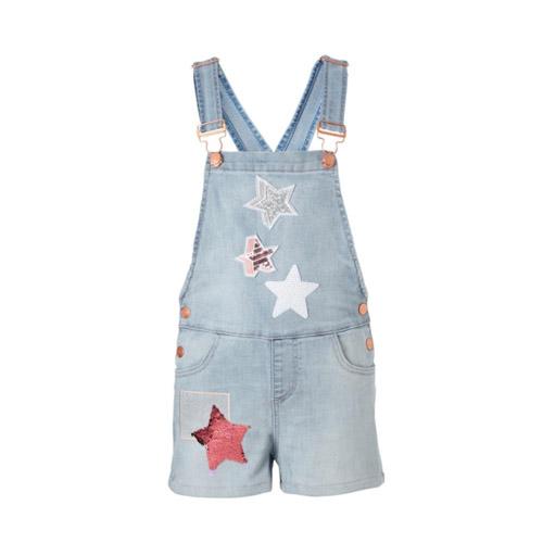 Desigual tuinbroek met omkeerbare pailletten sterren - AllinMam.com