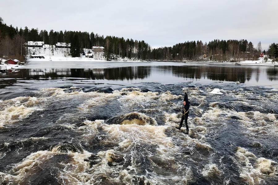 Zip lining at Varjola, Kuusa, Finland - AllinMam.com