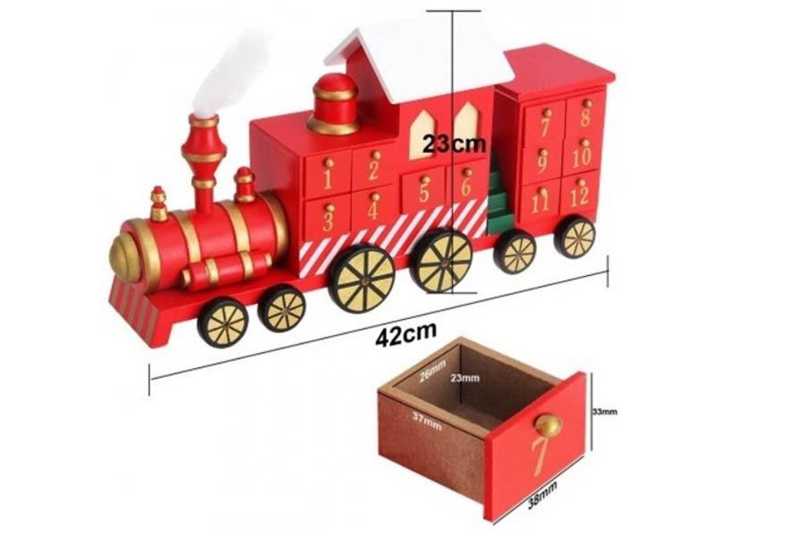 Adventskalender houten trein met lades - Adventskalender zelf vullen? Check deze leuke exemplaren! - AllinMam.com