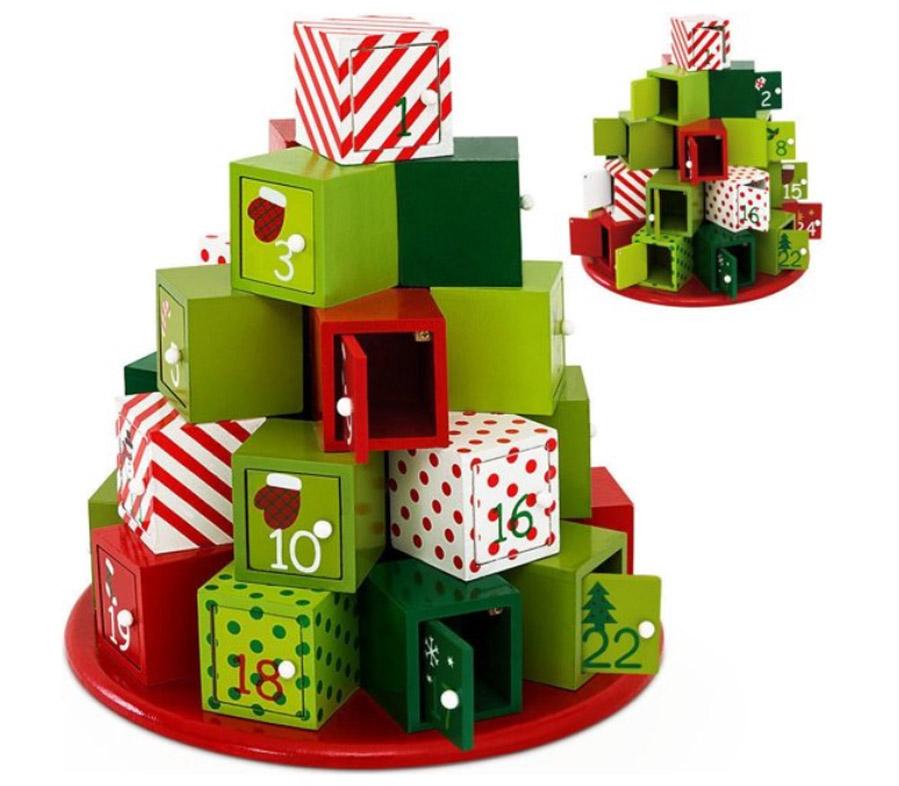 Adventskalender met houten doosjes - Adventskalender zelf vullen? Check deze leuke exemplaren! - AllinMam.com