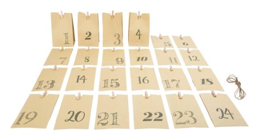 Adventskalender met papieren zakjes - Adventskalender zelf vullen? Check deze leuke exemplaren! - AllinMam.com