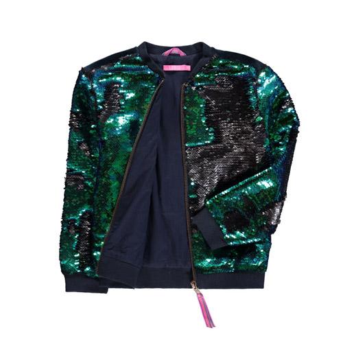 Omkeerbare pailletten vest van LE BIG - AllinMam.com