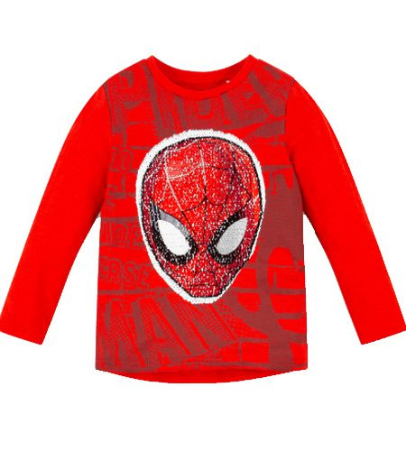 Spiderman shirt met omkeerbare pailletten - AllinMam.com