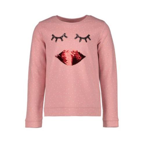 Sweater met lippen van omkeerbare pailletten - AllinMam.com