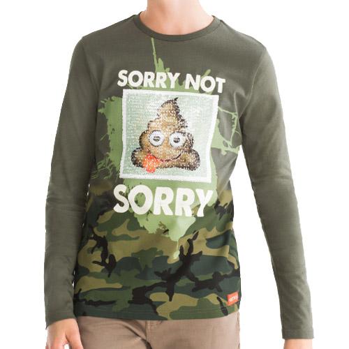 Jongens shirt met omkeerbare pailletten - AllinMam.com