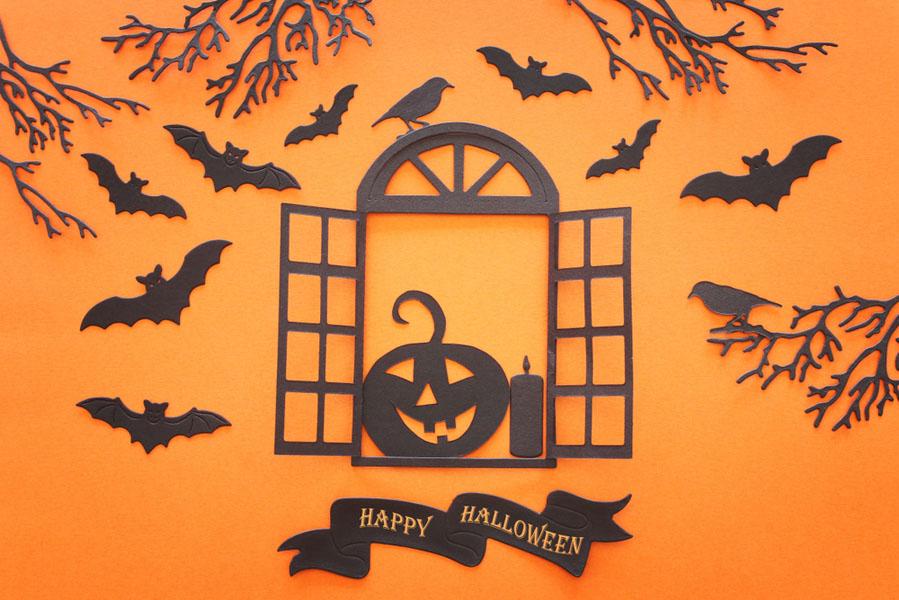 Halloween papierknipsels - 15 Halloween ideeën voor in huis - AllinMam.com