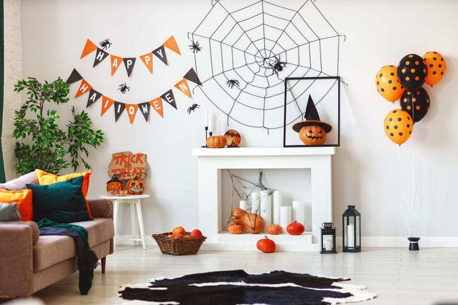 Halloween muur - 15 Halloween ideeën voor in huis - AllinMam.com