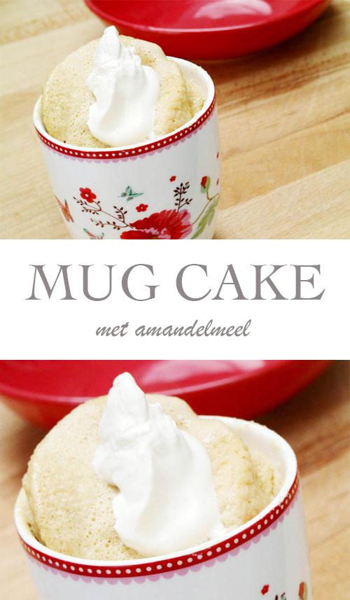 Koolhydraatarme mug cake met amandelmeel - AllinMam.com