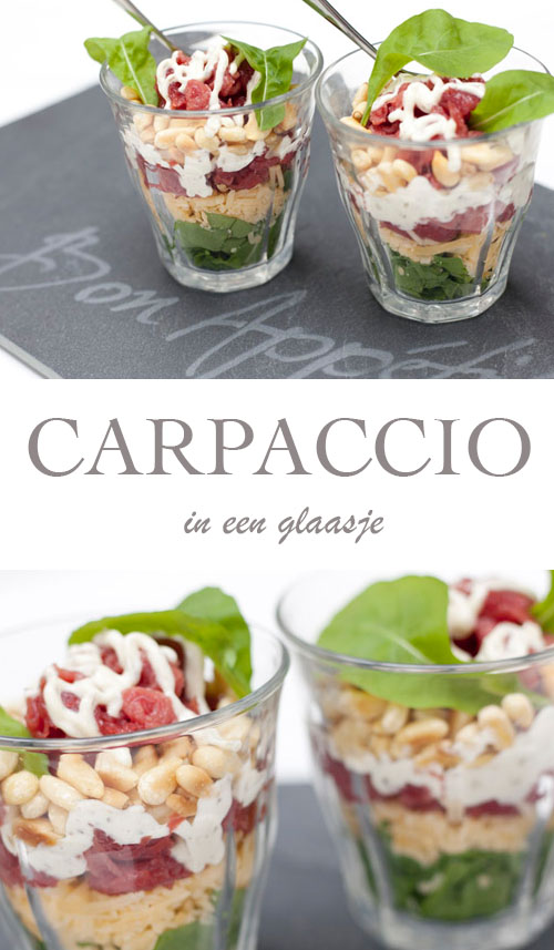 Recept voor Carpaccio in een glaasje; net even anders - AllinMam.com