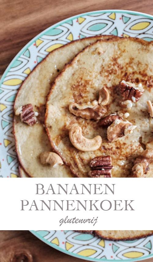 Bananen pannenkoek met gebrande noten - AllinMam.com
