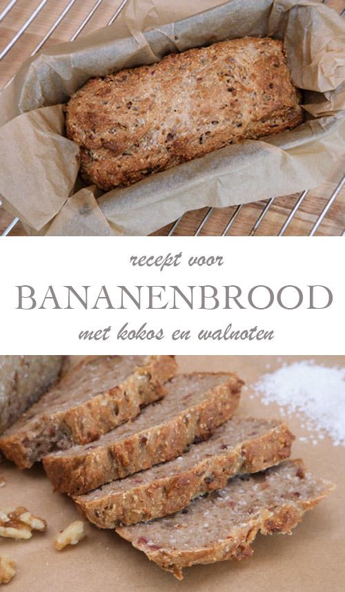 Bananenbrood met walnoten en kokos - AllinMam.com