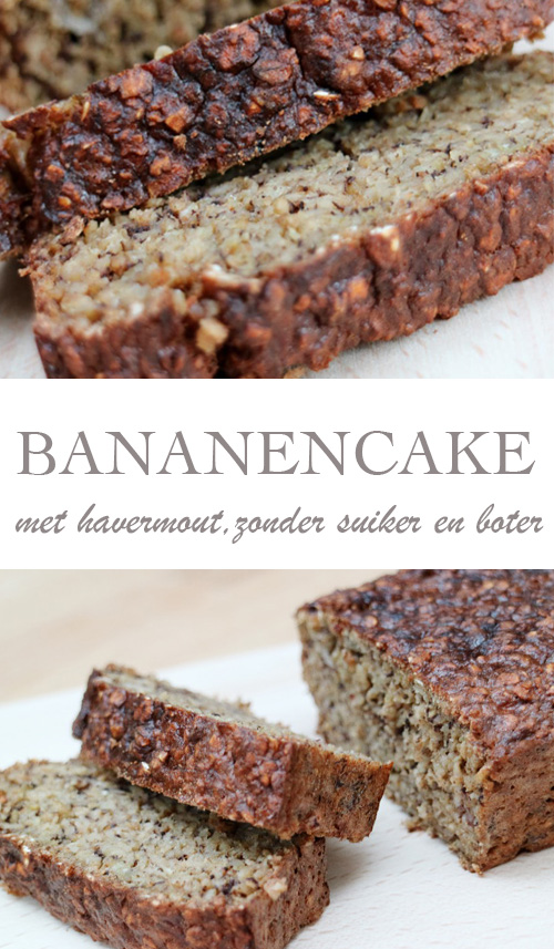 Bananencake zonder boter en suiker, mét havermout - AllinMam.com